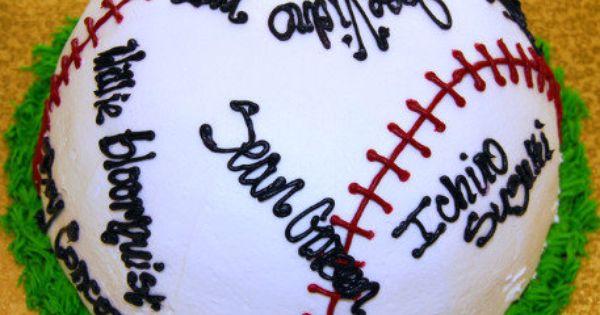 cute idea with team names Cakes Pinterest Baseball ...