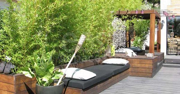 Terrasse en bois avec bambous maison d 39 architecte piscine marseille get out pinterest - Terrasse jardin pinterest strasbourg ...
