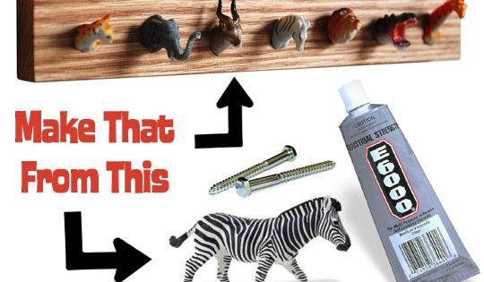 Plastic animal coat hooks