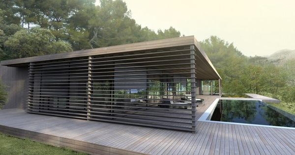 Maison contemporaine bbc à ossature bois - Maison contemporaine ...