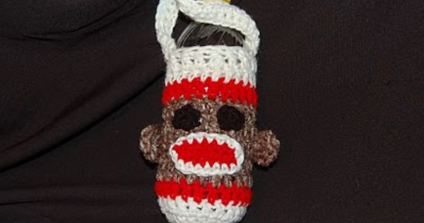 Posh Pooch Designs Dog Clothes: Sock Monkey Water Bottle Cozy Crochet Pattern