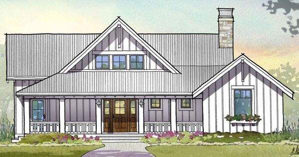 Front Elevation Beds : Farmhouse beds baths sq ft plan front