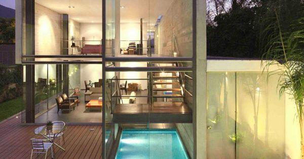 Lap pool & Modern Architecture