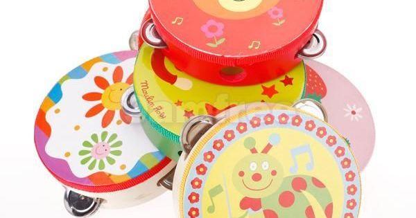 Cartoon Handbell Tambourine Clap Drum Kids Toy FP
