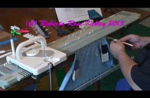 Hand Knit Hat worked on the Bulky Machine Knitting - Machine Pinterest