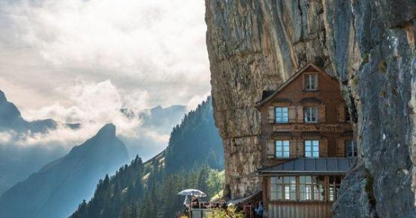 Aescher Hotel in Appenzellerland, Switzerland. - Imgur - Bucket List