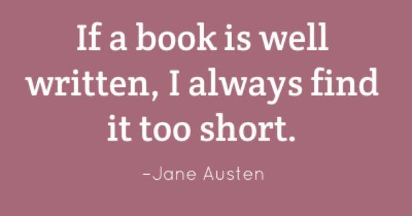 Book quote, Jane Austen