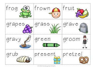 Br Cr Dr Fr Gr Pr Tr R Word Blend Activty Kindergarten Smarts Blends Activities R Words Blends Kindergarten