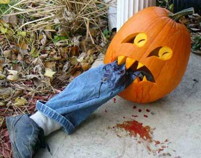 Haha! Zombie Pumpkin: Good for Halloween party!