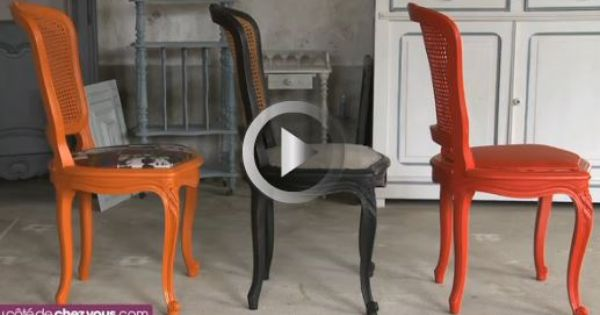 Relooker Une Chaise Cannee En Remplacant Le Cannage Par Une Assise Rembourree Repeindre La Chaise En No Relooker Salle A Manger Relooking Meuble Chaise Cannee
