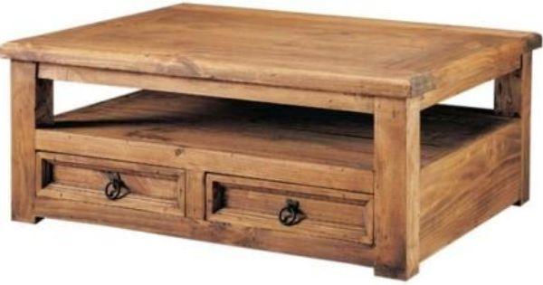 Mesa de centro de madera rustica buscar con google for Mesas de centro rusticas baratas