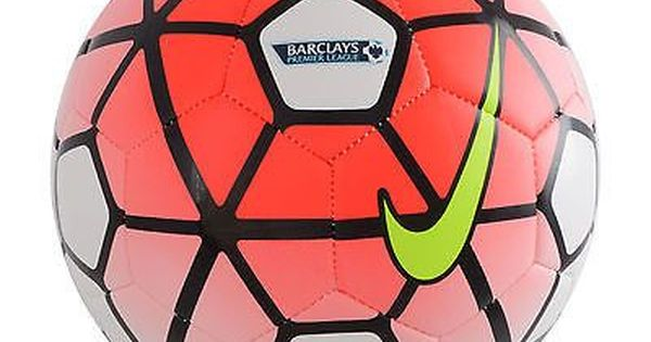 Nike Pitch Barclay S Premier League Soccer Ball Size 5 2015 16 Red White Premier League Soccer Soccer Ball Soccer