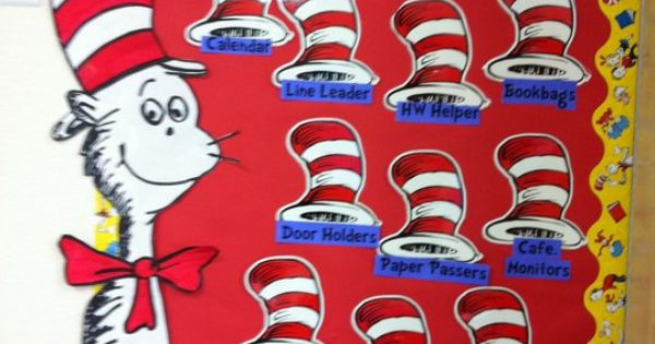 Seuss Job Chart Teaching Language Arts Pinterest Dr