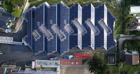 Skop School Port Switzerland Green Roof System Modern Roofing Roof Architecture