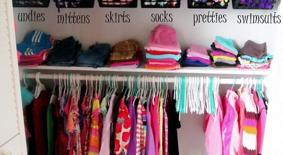 Genius closet ideas, especially the clothespins attached with adhesive for hanging small