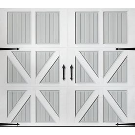 Pella 96 In X 84 In Insulated True White Gray Single Garage Door Lowes Com Garage Door Design Garage Door Windows Single Garage Door