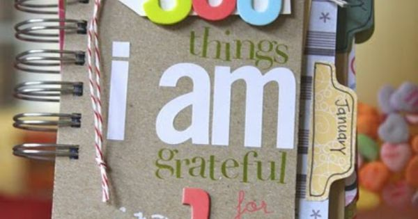 Gratitude journal. Great idea for Christmas.