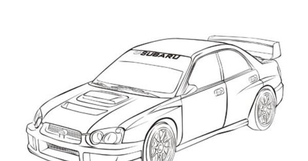 Subaru Impreza Rally Car Coloring Pages Coloring Pages Rally Car