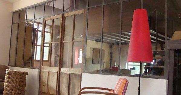 cloison en fer forg type atelier verri re escaliers et structures en m tal pinterest. Black Bedroom Furniture Sets. Home Design Ideas