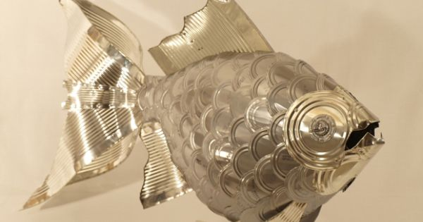 Upcycled Tin Cans Into Fish Sculpture Made By Alanna