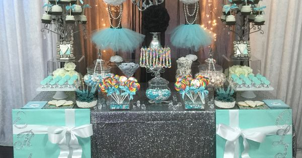 Turquoise, White, and Black with Silver Accents Candy ...