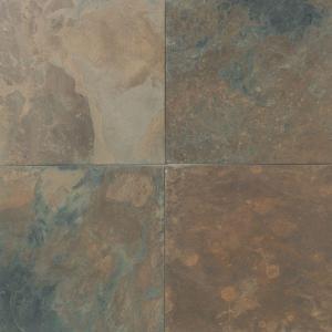Daltile 12x12 Cali Gold Slate Floor Tile 4 64 Sq Ft Home Depot Downstairs Bath Slate Flooring Daltile Slate Tile Floor