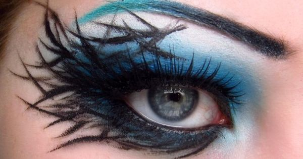 Bluejay - Halloween eye makeup idea.