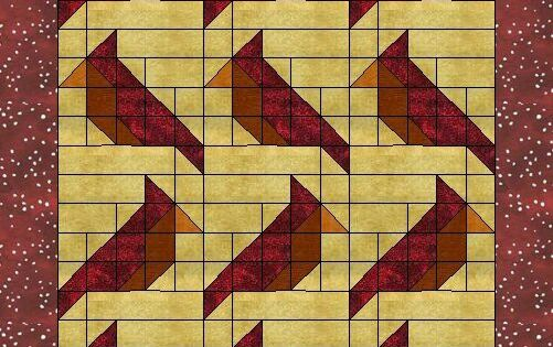 Cardinal Free Quilt Block Pattern At Www Countryjunktion