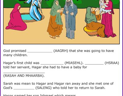 """an analysis of the character of hagar in the bible To this end, she sends her handmaiden hagar to sleep with abram when sarai becomes upset because of hagar's contempt, the handmaiden flees in fear god speaks to hagar and comforts her, promising her a son who will be a """"wild ass of a man,"""" and hagar returns to give birth to abram's first son, ishmael (16:12."""