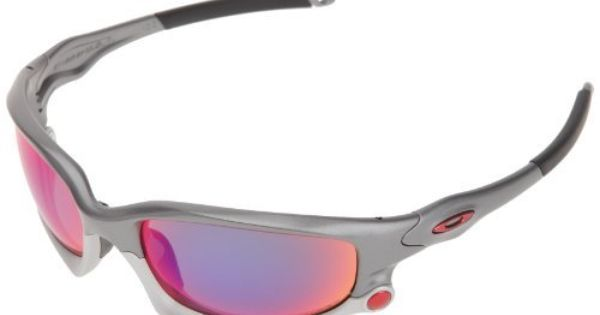 Oakley Men S Split Jacket Iridium Polarized Sport Sunglasses Dark Grey Frame Positive Red And Light Grey Lens One Size Oakley 235 20 Save 10 Off