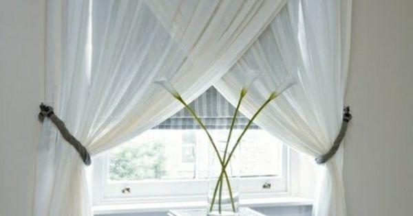 vorh nge fenster moderne gardinenideen designer window. Black Bedroom Furniture Sets. Home Design Ideas