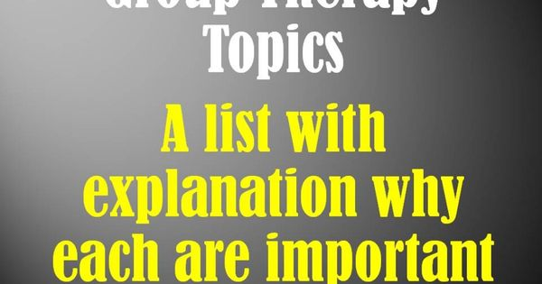 Use this list of mental health group topics to help you plan
