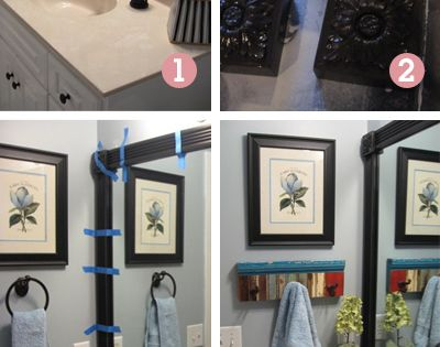 Doing this for our Bathroom mirrors! frame bathroom mirror