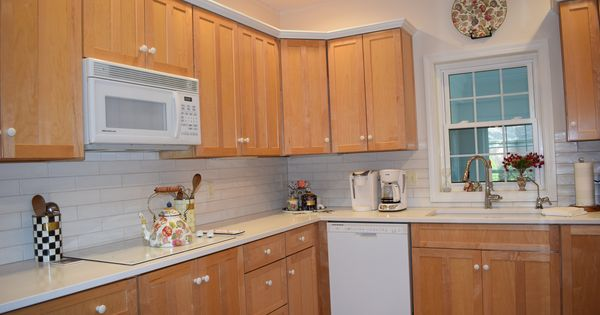 Kitchen Updated To Remove Red Countertops In 2020 Kitchen Remodel Updated Kitchen Kitchen