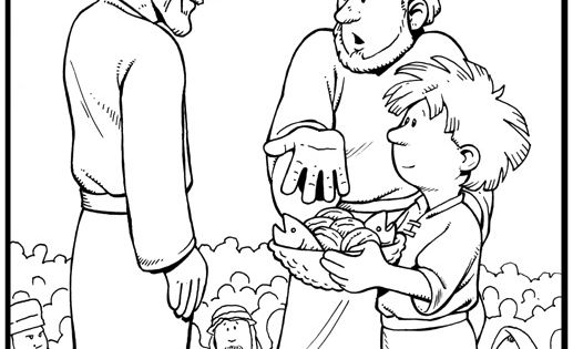 jesus feeds the 5000 coloring page - Google Search ...