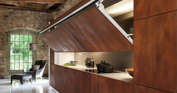 warendorf design versteckte k che faltbare t r front. Black Bedroom Furniture Sets. Home Design Ideas