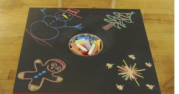 diy chalkboard tables for kids. we literally have the table that you