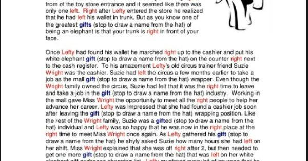 White elephant gift exchange poem | White elephant ...