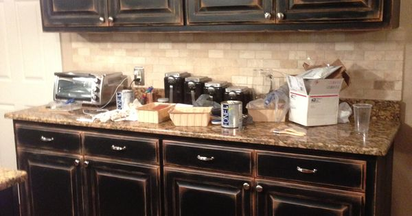 faux painted kitchen cabinets black cabinets with faux distressing used 3 different 15300