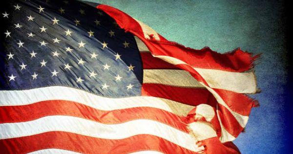 old tattered flag