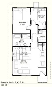 800 Sq Ft Small House Floor Plans Cabin Floor Plans Guest House Plans