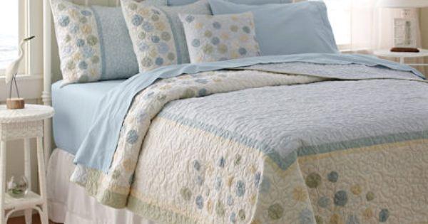 LL Bean Sand Dollar Quilt, guest bedroom