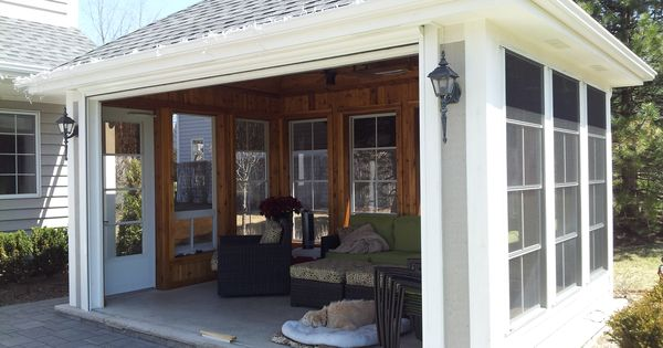 Stand Alone Screen Porch 3 Seasons Room W Remote Roll Up