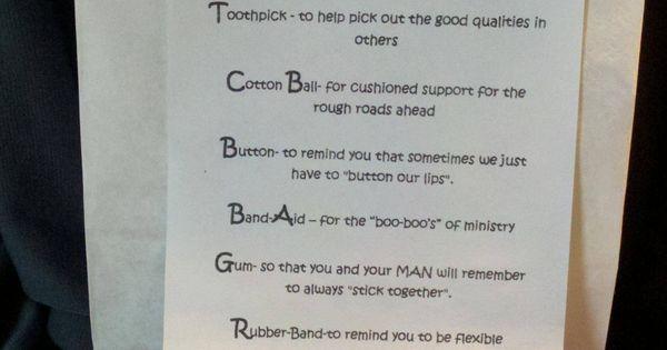 Survival Kit for Ministry Wives | Neat ideas! | Pinterest | Pastors ...