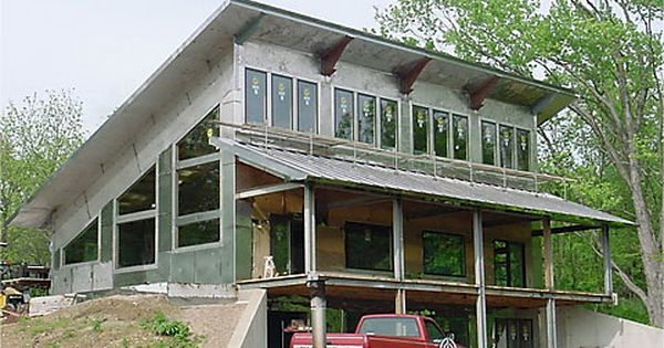 Single Slope Roof With Porch Stainless Steel House House Roof Steel House Metal Building Homes