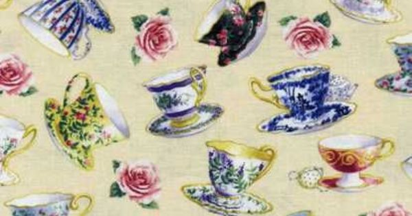 MARY ENGELBREIT Afternoon Tea 20025 H 100/%  Cotton Fabric priced by 1//2 yard