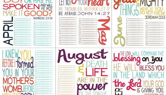 ♥ Printable Bible Verse by Month. LOVE THIS!!! DOING THIS!! Print out
