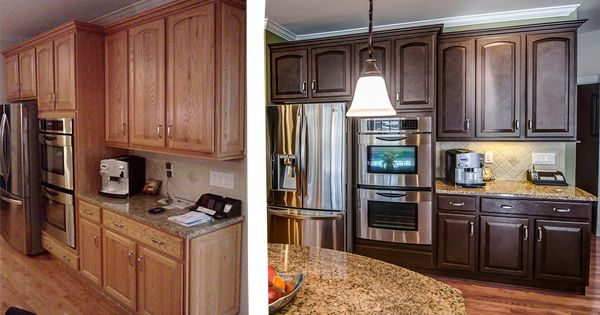 painted kitchen cabinets before after painted oak kitchen cabinets before and after before and 24366