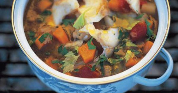 Salt cod soup zuppa di baccala recipe soups jamie for Fish soup recipe cod