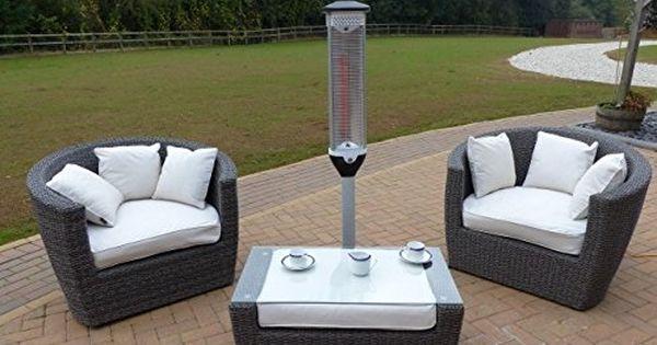 Stylish Patio Heater Oceans Rattan Furniture Java Heater Amazon Co Uk Garden O Rattan Garden Furniture Sets Garden Furniture Sets Patio Furniture Pillows